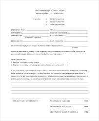 Free 35 Printable Employee Evaluation Forms In Pdf Doc