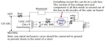 electronic temperature control circuit circuit low voltage across snap disc sensor