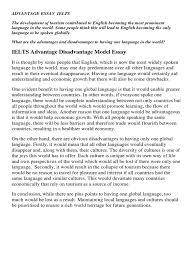 advantage disadvantage essay ielts