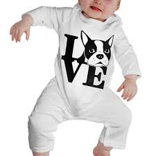 Terrier Size Chart Amazon Com Boston Terrier Love Newborn Toddler Baby Long
