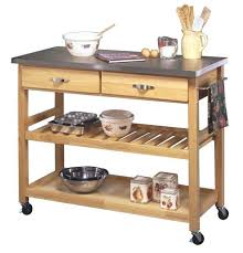 remarkable portable outdoor kitchens on wheels with natural wood top kitchen cart island also small