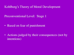 Carol Gilligan Moral Development Theory Chart Ppt Kohlbergs Theory Of Moral Development Preconventional