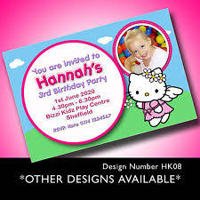 Personalised Birthday Invitations For Kids Hello Kitty Invitations Celebrations Occasions Ebay