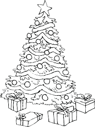 Coloring Pages Christmas Tree Colouring Sheet Detailed Coloring