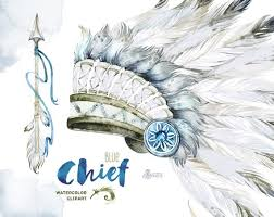 Indian Chief Dream Catcher Unique Chief Blue Native Warbonnets Dreamcatcher And Arrow Etsy