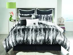 winning black and white comforter set with cool bed sheet and two