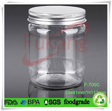 Decorative Glass Jars Wholesale Metal Cap For 100ml PET Plastic Food Grade Decorative Jam Jars 67