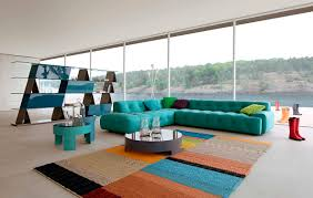 colorful contemporary modern industrial. Openness Interior Design Style With Unique Shelf Divider And Colorful Touches Of Furnishing Contemporary Modern Industrial