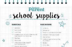 Checklist For School Printable School Supplies Checklist