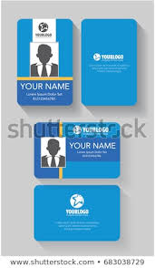Background Id Design Card Blue