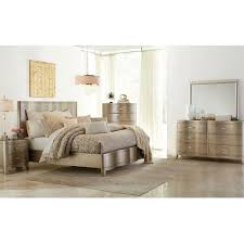 Serendipity Bedroom - Bed, Dresser & Mirror - King - Champagne ...