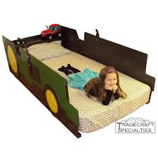custom made tractor twin kids bed frame handcrafted farm tractor themed children s bedroom furniture