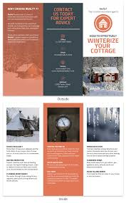 Orange Real Estate Home Informational Tri Fold Brochure Template