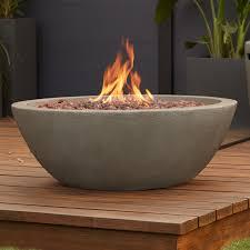 natural gas fire bowl.  Bowl Real Flame Riverside Concrete Natural Gas Fire Pit U0026 Reviews  Wayfairca Throughout Bowl I
