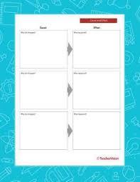 Four Column Chart Teachervision