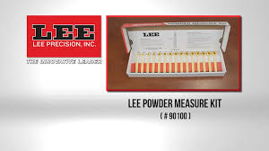Lee Dipper Chart Powder Measure Kit Lee Precision