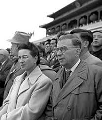 jean paul sartre  simone de beauvoir and jean paul sartre in beijing 1955