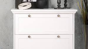 Kommode Landwood Anrichte In Weiß Mit 3 Schubkästen Landhausstil