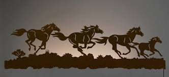on wild horses wall art with wild horses backlit wall art 57 inch