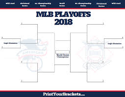 2018 Mlb Playoff Bracket Printable Baseball Playoffs