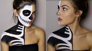 makeup tutorial half skeleton half glamour rosiesmith you