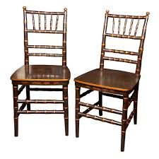 bamboo dining chairs. Pair Of Chinoiserie Faux Bamboo Dining Chairs 1stDibs