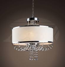 tawana white shade 4 light crystal chandelier 56 hx16 w16 d