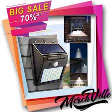 Solar Sensor Light Big W Solar Waterproof Wall Light W Free Tactical Flashlight