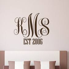 monogram family elished wedding gift anniversary personalized wall decal