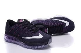 nike running shoes 2016 black. nike air max 2016 womens black purple white running shoe shoes n