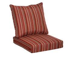 hampton bay dragonfruit stripe 2 piece deep seating outdoor lounge chair cushion