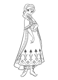 Anna Coloring Pages For Kids Frozen
