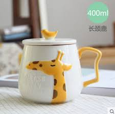 office cups. 400ml Creative Cute Cartoon Mugs Ceramic Child Cups Home Office Milk And Coffee New F