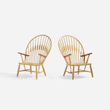 hans wegner peacock chair. 297: Hans J. Wegner / Peacock Chairs, Pair (1 Of 4) Chair O