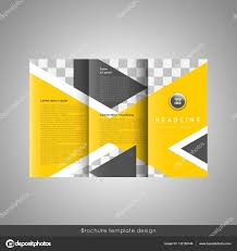 Business Trifold Brochure Template Design Wavy Lines