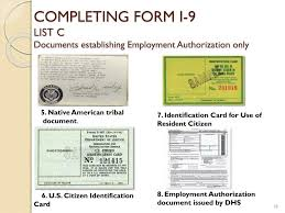 Ppt - Form I-9 Employment Eligibility Verification Form Powerpoint ...