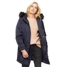 nine by savannah miller coats london women navy faux fur trim posh parka