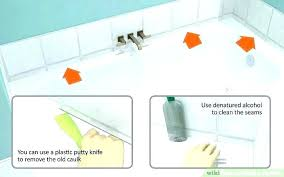 silicone caulk for shower applying silicone caulk applying silicone caulk image titled caulk a bathtub step