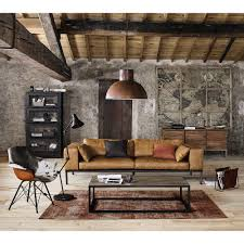 Industrial Style Living Room Furniture Brown Textiles And Tough Metal Create A Strong Industrial Style