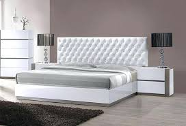 Modern Platform Bed With Leather Headboard Modern Leather Headboard