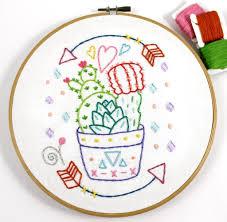 Cactus Embroidery Pattern Unique Design