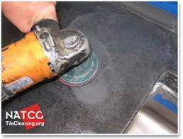 removing stains and etch marks from concrete countertop