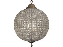 home outstanding round glass ball chandelier 34 crystal sphere for top of throughout with crystals inspirations