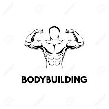 Bodybuilders Silhouette Gym Logo Fitness Emblem