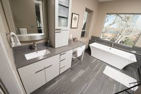 Quartz Bathroom Countertop The Crawford Gallery Featuring Cambria Silestone And Pental
