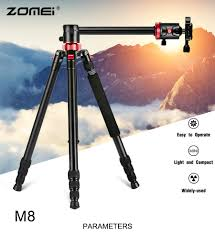 M8 <b>Professional</b> Camera Tripod 72-inch with Extension Arm ...