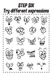 how to draw cartoon faces printable a4 workbook design the dream