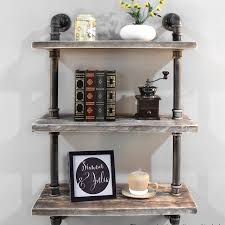 simonne 3 tier industrial pipe wall shelf reviews industrial pipe shelves wayfair industrial shelf