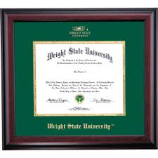 wright state school color traditional diploma frame wright state  wright state school color traditional diploma frame