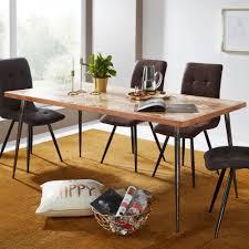 Esszimmertisch Wl5632 Akazie 200x77x100 Cm Massivholz Metall Industrial Esstisch Massiv Groß Küchentisch Holztisch Esszimmer Großer